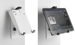 Крепление для планшета с наклонной фиксацией на металлической поверхности